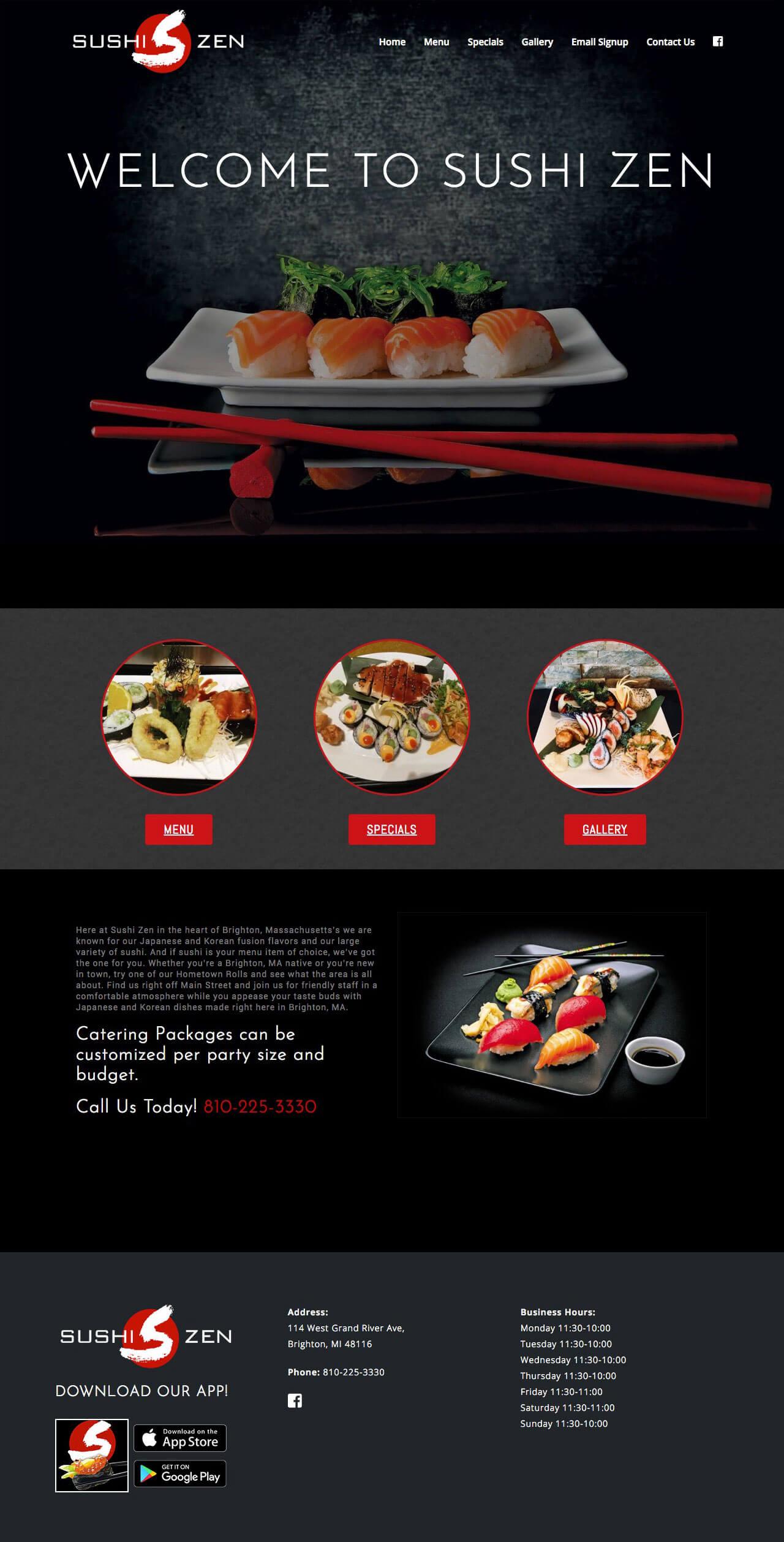 Sushi Zen - TLS Mobile Friendly Website
