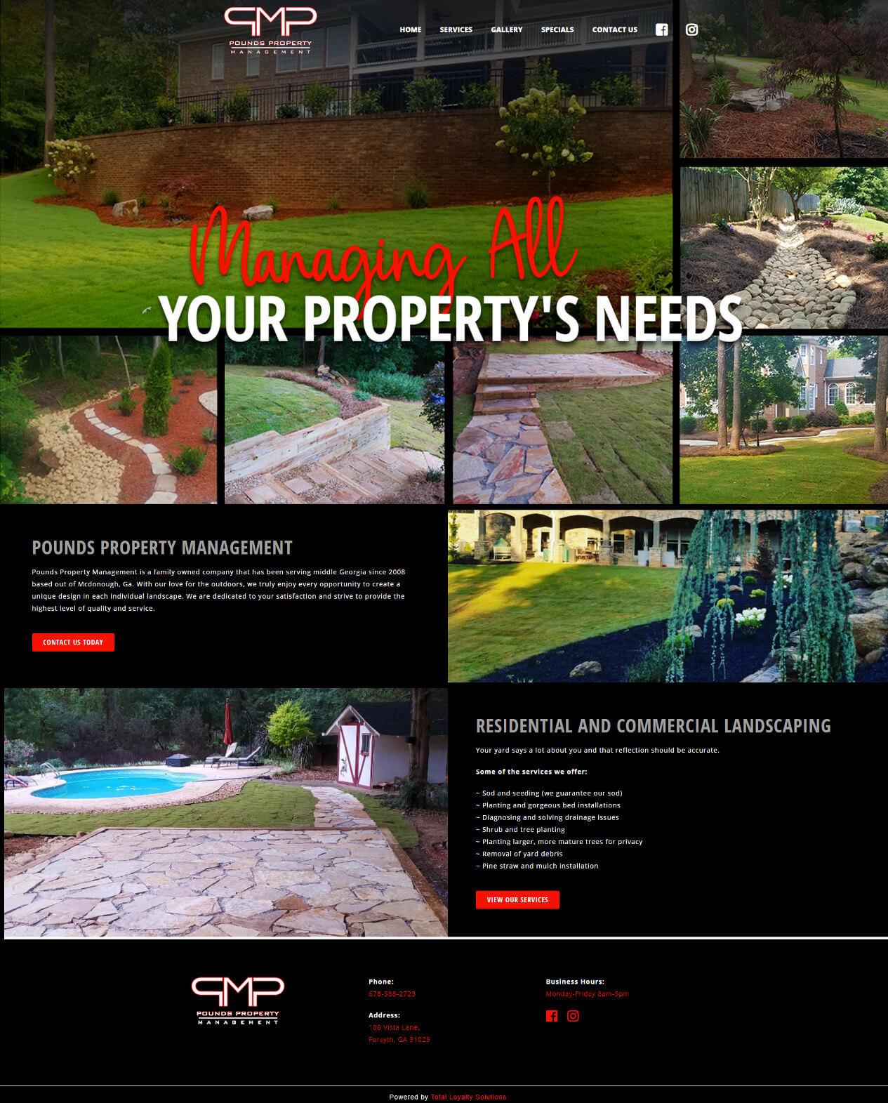 Pounds Property Management - TLS Mobile Friendly Website