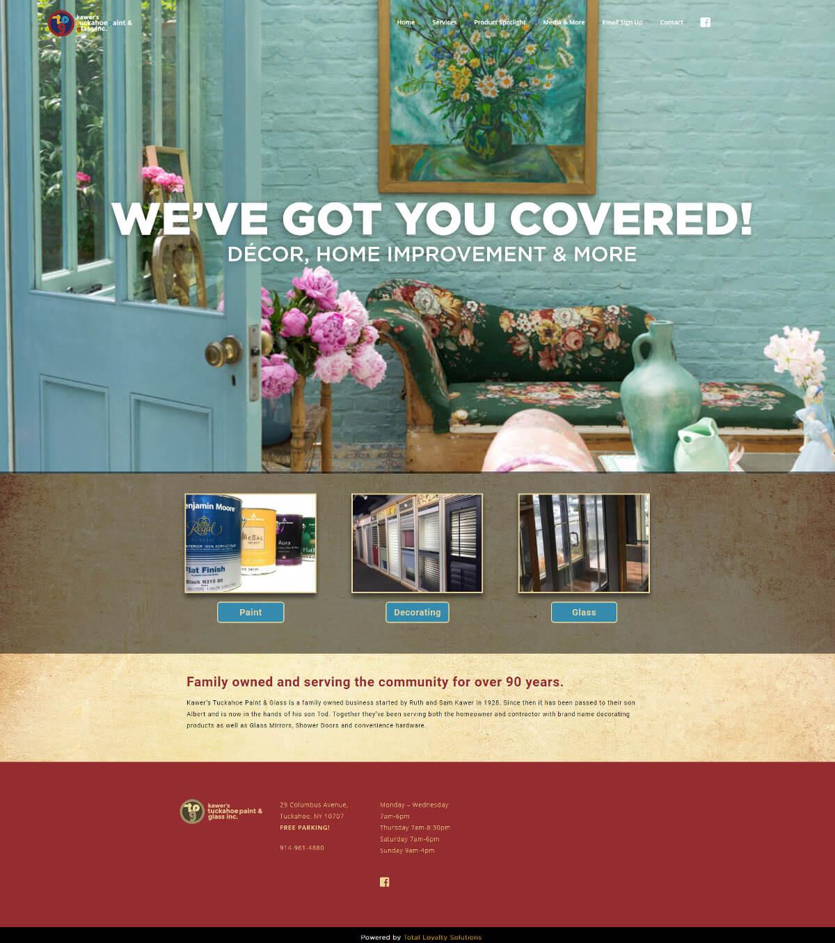 Kawer's Tuckahoe Paint & Glass, Inc. - TLS Mobile Friendly Website