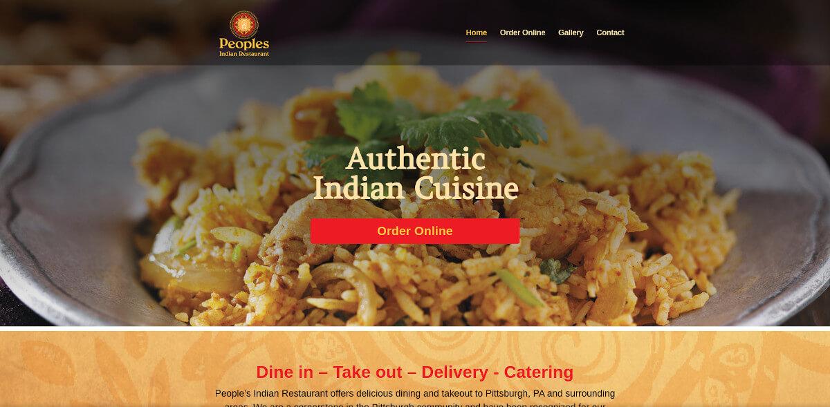 Peoples Indian Restaurant - TLS Mobile Friendly Website