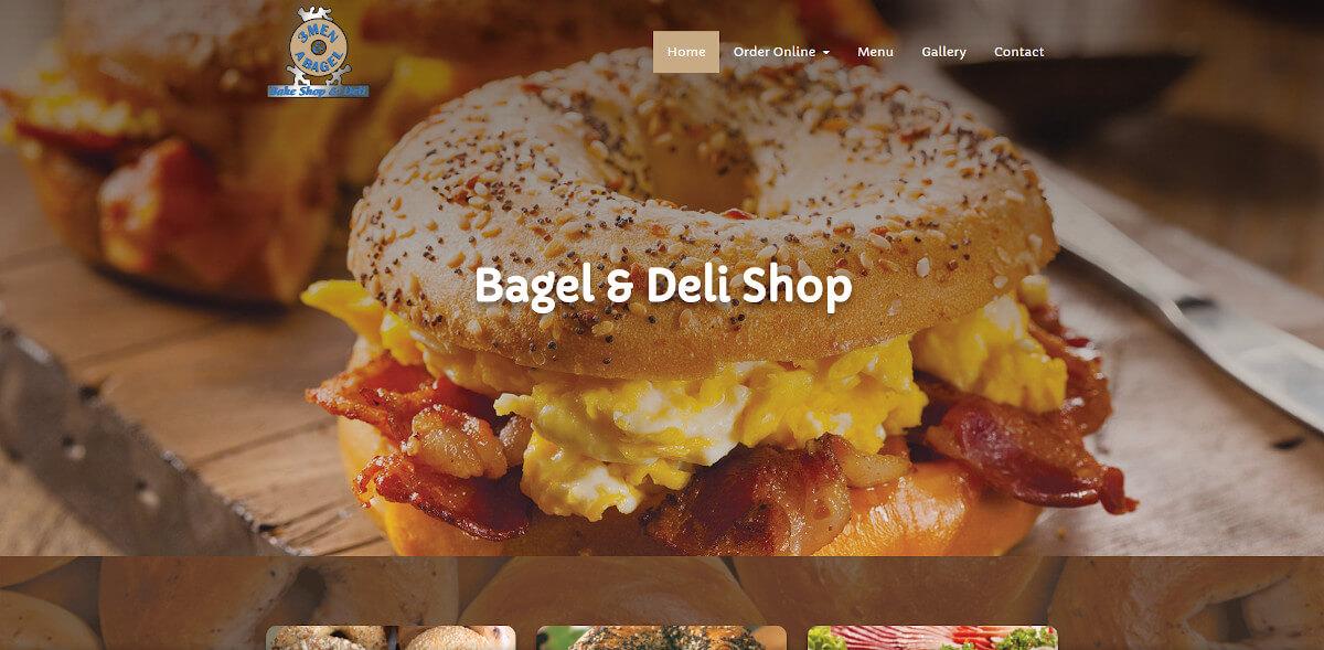 3 Men & A Bagel - TLS Mobile Friendly Website